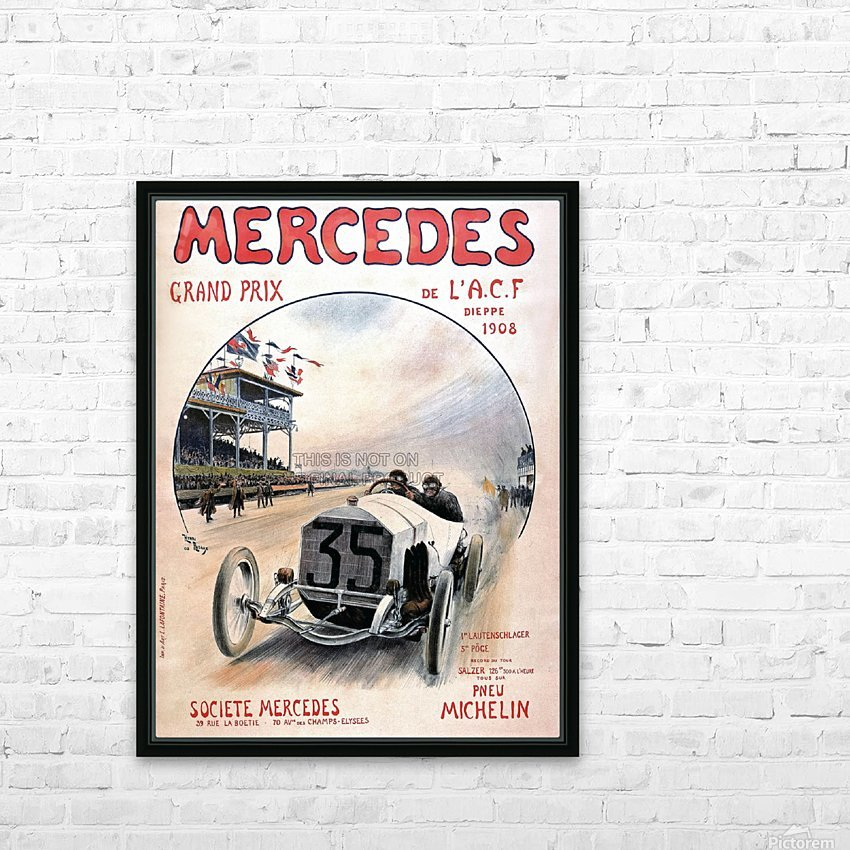 Mercedes Grand Prix HD Sublimation Metal print with Decorating Float Frame (BOX)