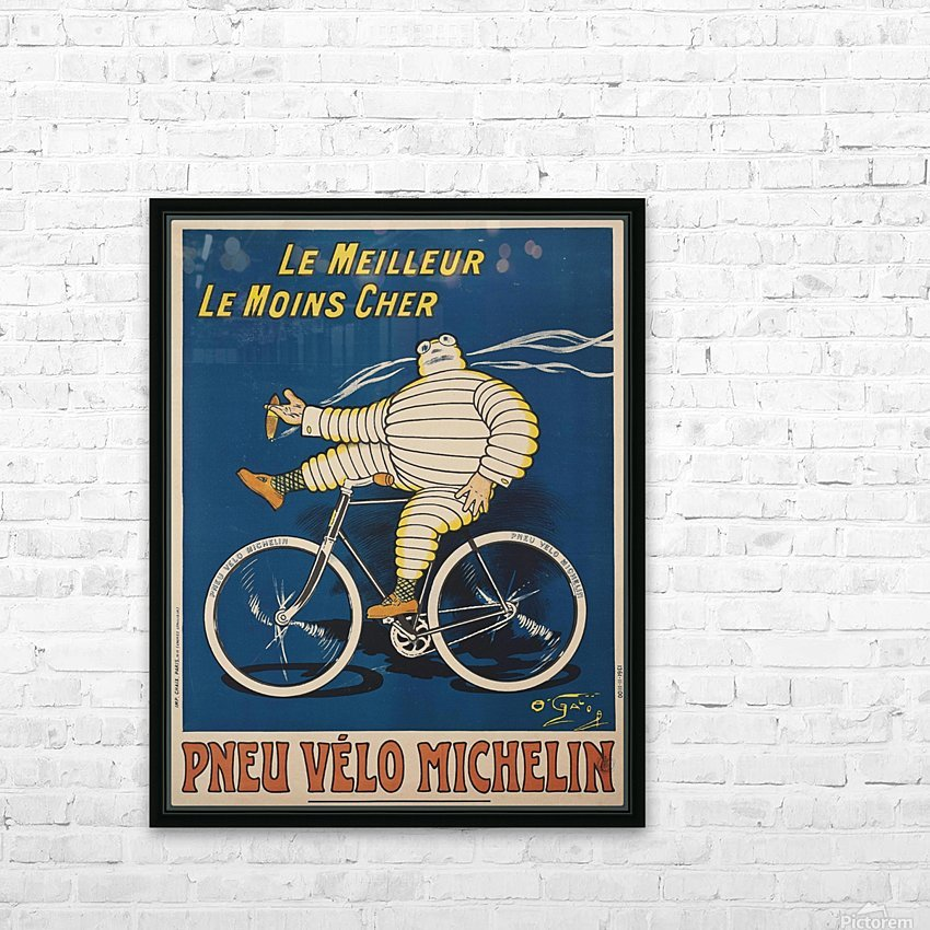 Pneu Velo Michelin HD Sublimation Metal print with Decorating Float Frame (BOX)
