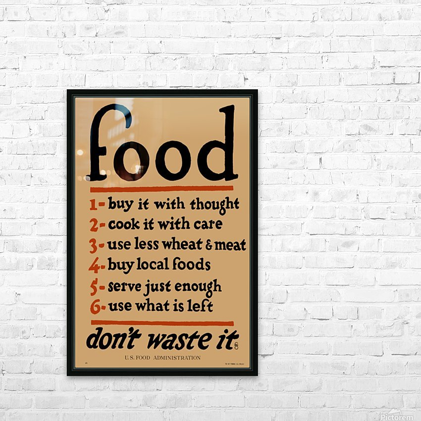Food Poster HD Sublimation Metal print with Decorating Float Frame (BOX)