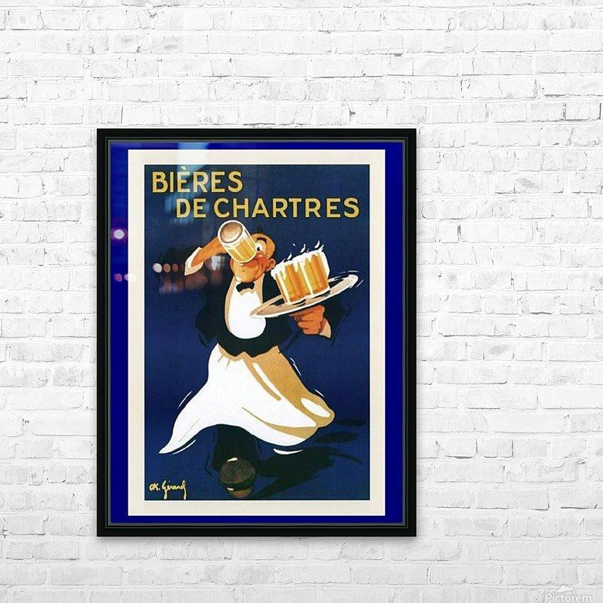 Bieres de Chartes HD Sublimation Metal print with Decorating Float Frame (BOX)