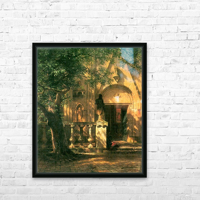 Sunlight and Shadow 2 by Bierstadt HD Sublimation Metal print with Decorating Float Frame (BOX)