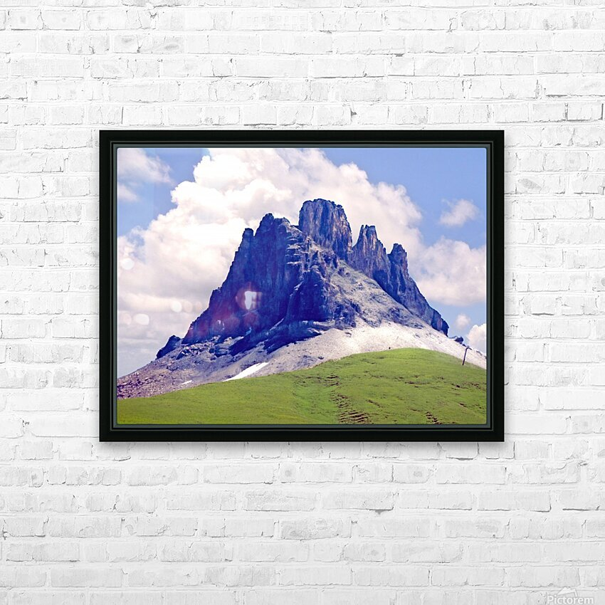 Mountain Peak in the Swiss Alps HD Sublimation Metal print with Decorating Float Frame (BOX)