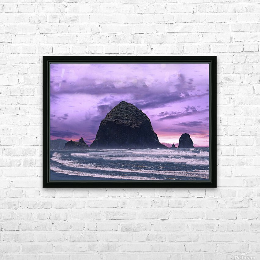 Cannon Beach at Sunset HD Sublimation Metal print with Decorating Float Frame (BOX)