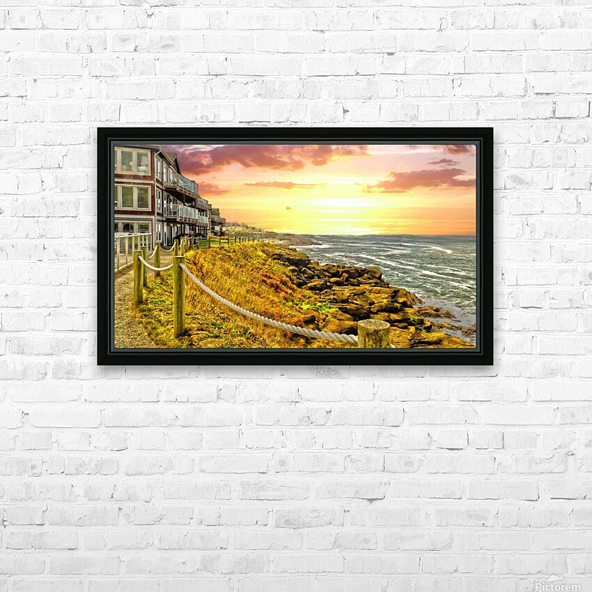 Depoe Bay On the Oregon Coast HD Sublimation Metal print with Decorating Float Frame (BOX)