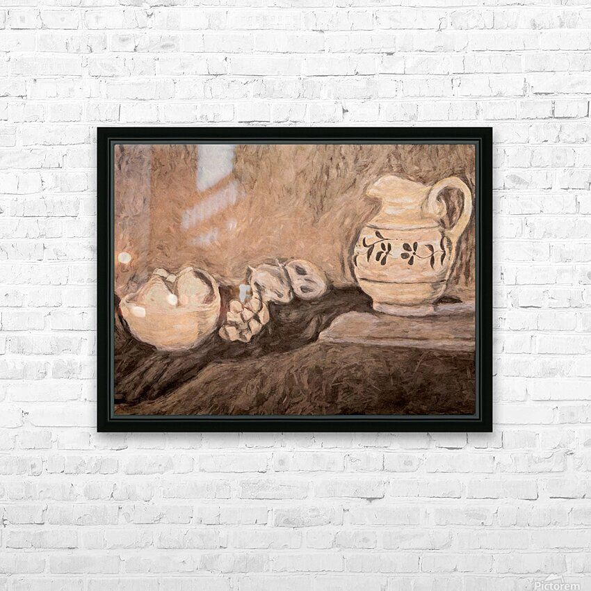 Fruit and Pitcher HD Sublimation Metal print with Decorating Float Frame (BOX)