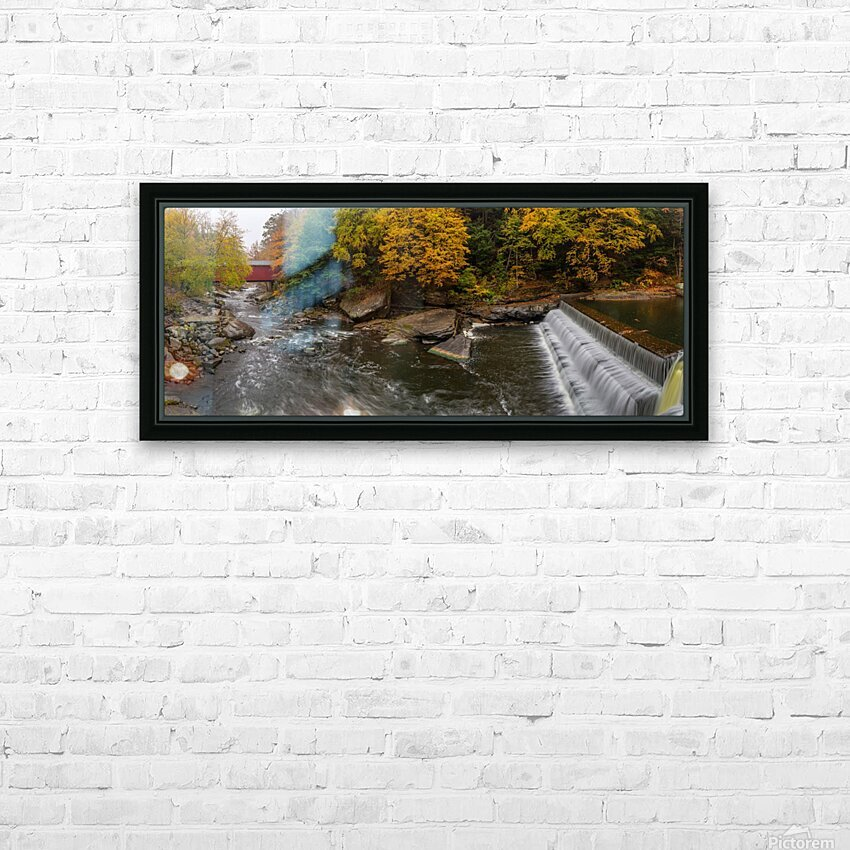 Covered Bridge apmi 1922 HD Sublimation Metal print with Decorating Float Frame (BOX)