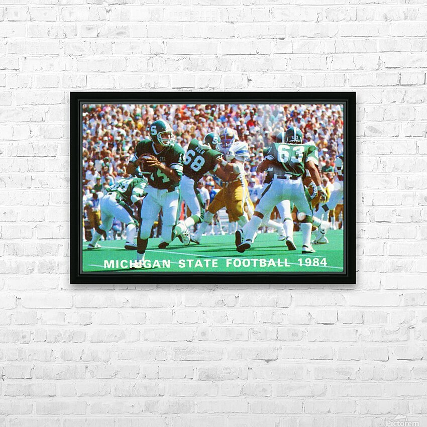 1984 Michigan State Football Poster HD Sublimation Metal print with Decorating Float Frame (BOX)