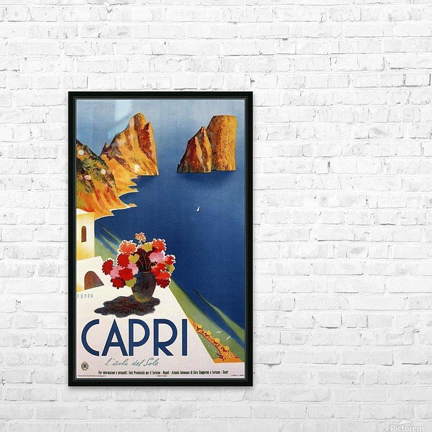 Vintage Capri HD Sublimation Metal print with Decorating Float Frame (BOX)