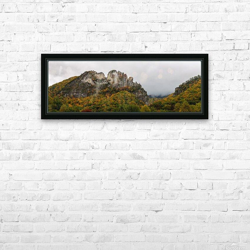 Seneca Rocks apmi 1884 HD Sublimation Metal print with Decorating Float Frame (BOX)