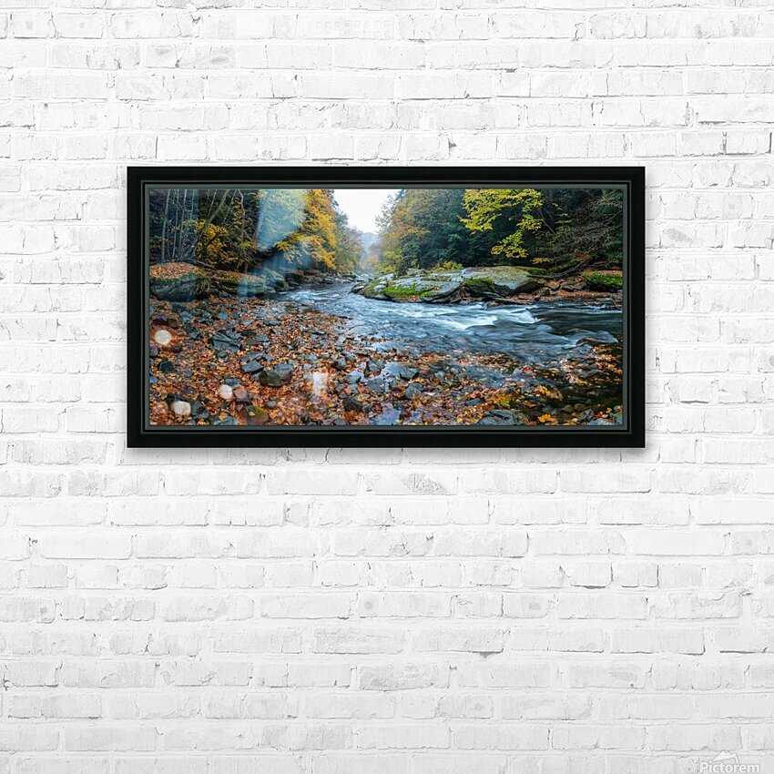 Slippery Rock Creek apmi 1938 HD Sublimation Metal print with Decorating Float Frame (BOX)