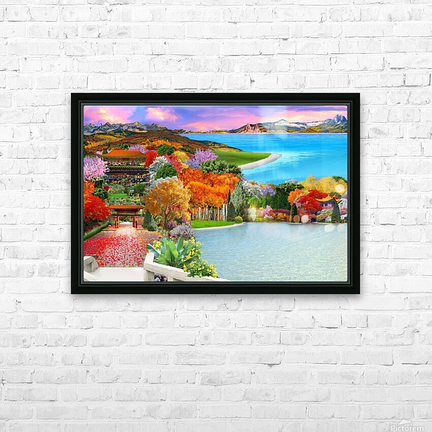 ASIAN HOME HD Sublimation Metal print with Decorating Float Frame (BOX)