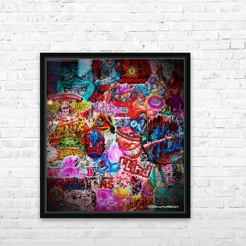 Big Street art  HD Sublimation Metal print with Decorating Float Frame (BOX)