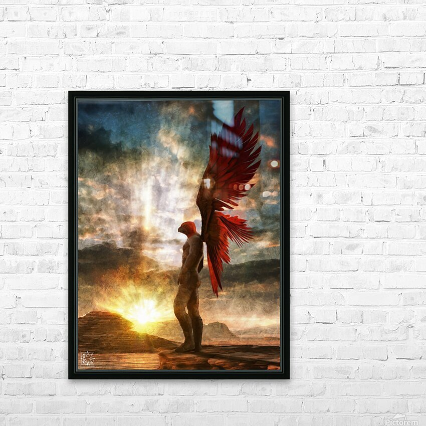 Horus Watching Part 1 HD Sublimation Metal print with Decorating Float Frame (BOX)