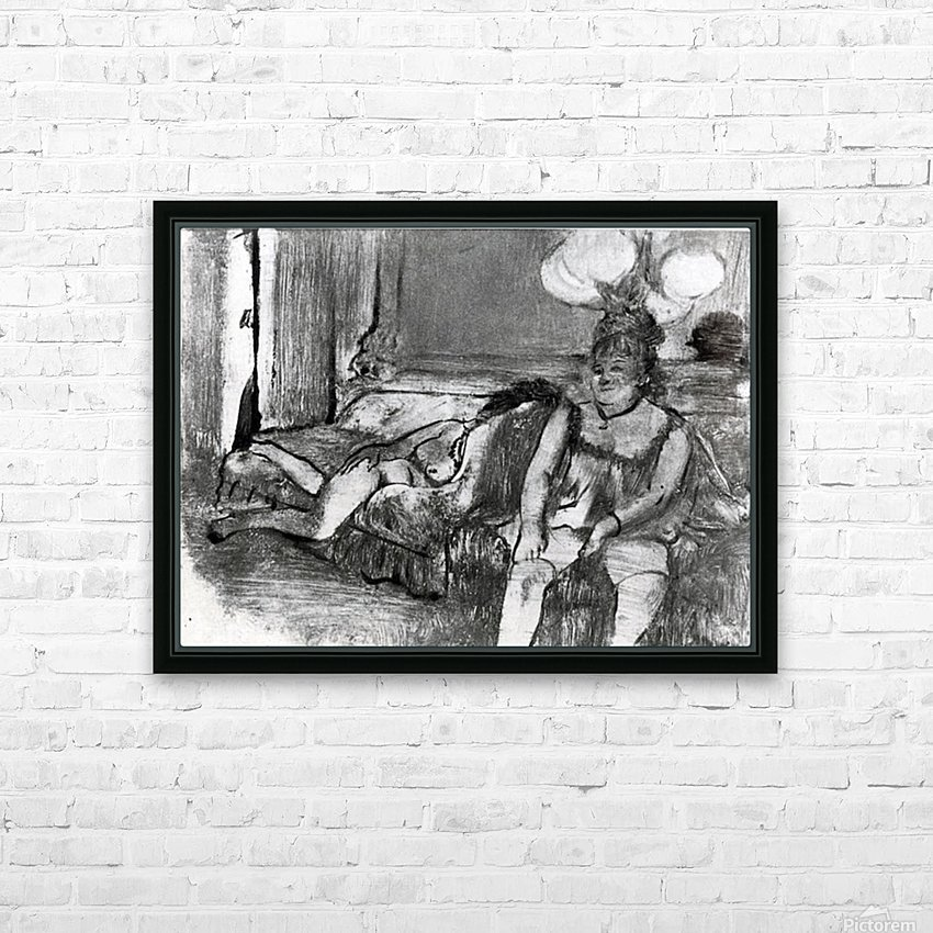 Taking a rest by Degas HD Sublimation Metal print with Decorating Float Frame (BOX)
