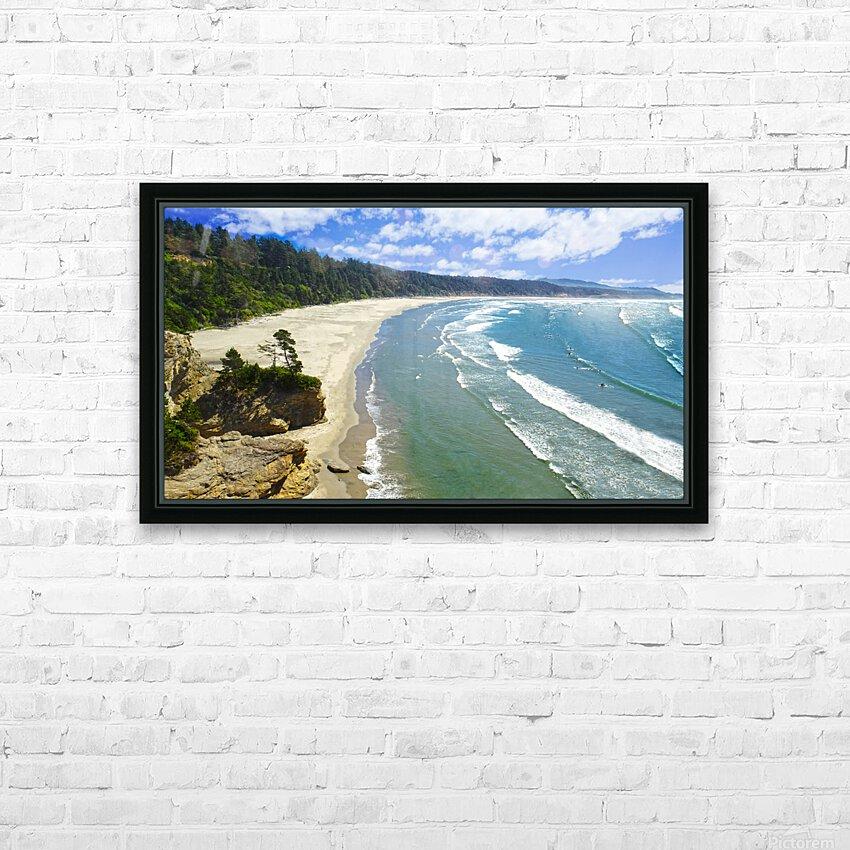 Wild Oregon Coast HD Sublimation Metal print with Decorating Float Frame (BOX)
