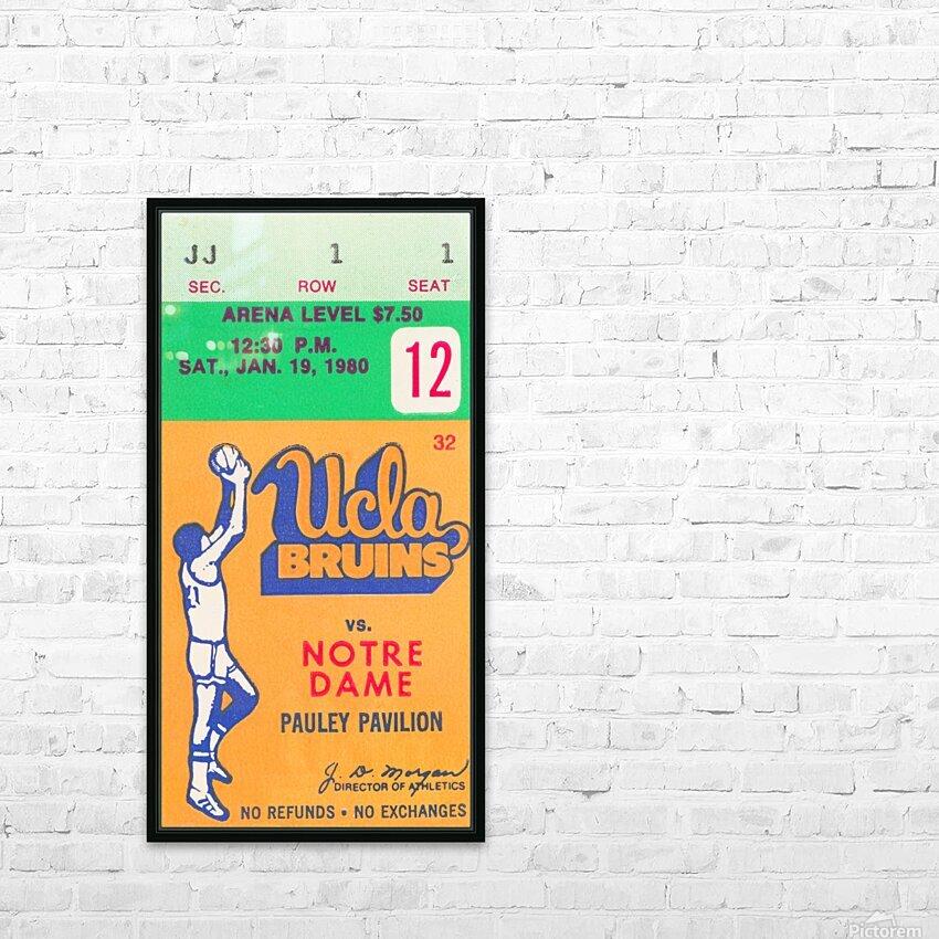 1980 UCLA Bruins Basketball Ticket Stub  Art HD Sublimation Metal print with Decorating Float Frame (BOX)