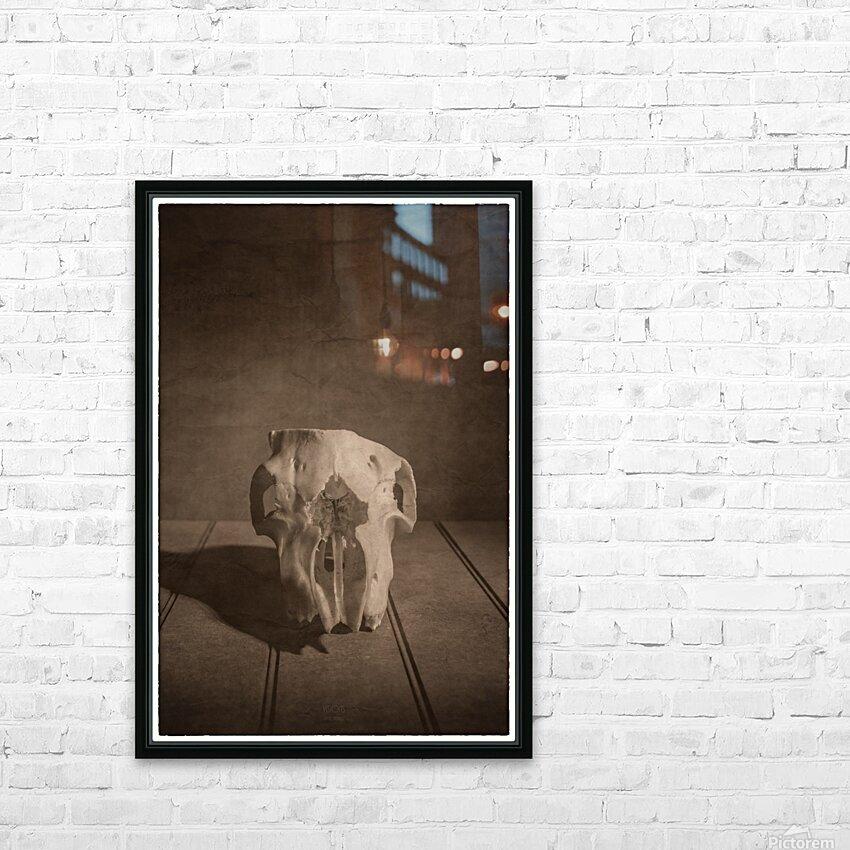 Cranium HD Sublimation Metal print with Decorating Float Frame (BOX)