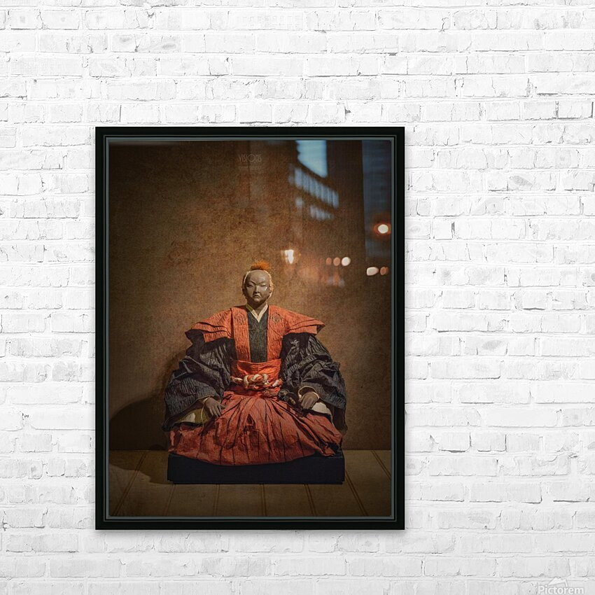 Samurai HD Sublimation Metal print with Decorating Float Frame (BOX)