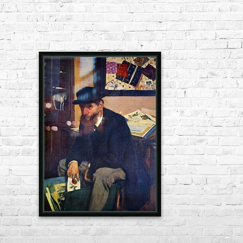 The Amateur by Degas HD Sublimation Metal print with Decorating Float Frame (BOX)