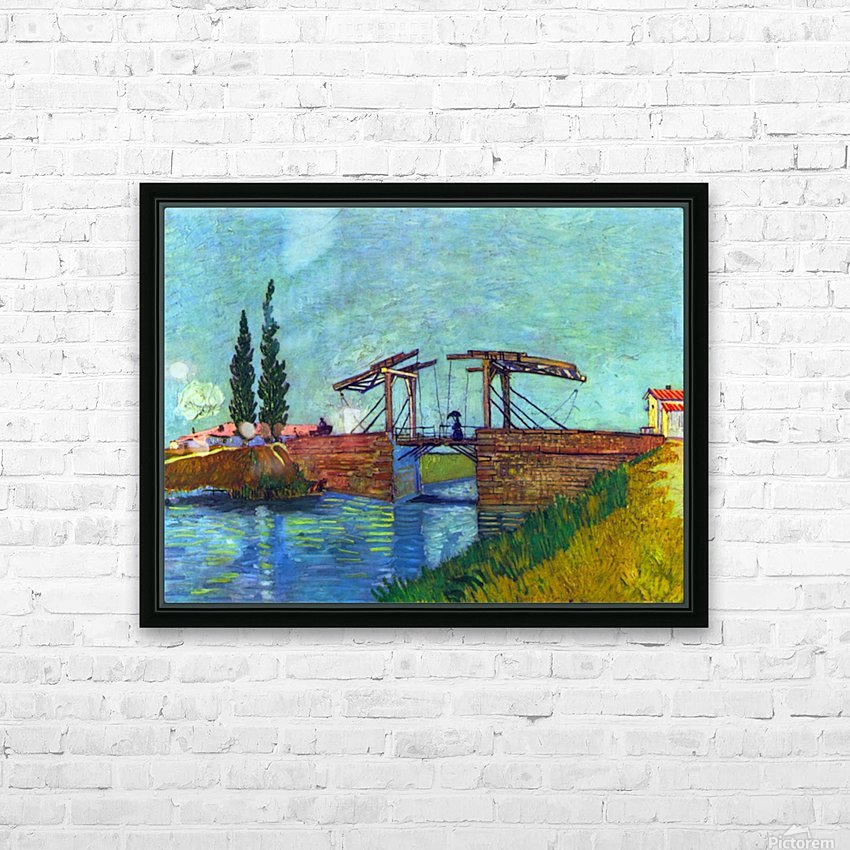 The Anglois Bridge at Arles (The drawbridge) by Van Gogh HD Sublimation Metal print with Decorating Float Frame (BOX)