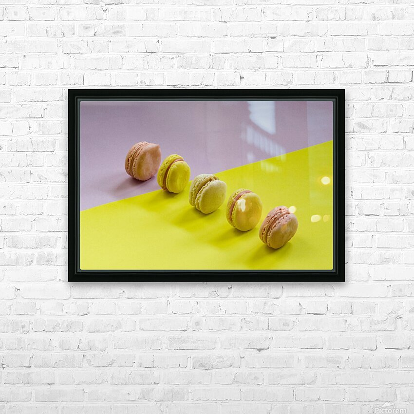 food macaroon photography HD Sublimation Metal print with Decorating Float Frame (BOX)