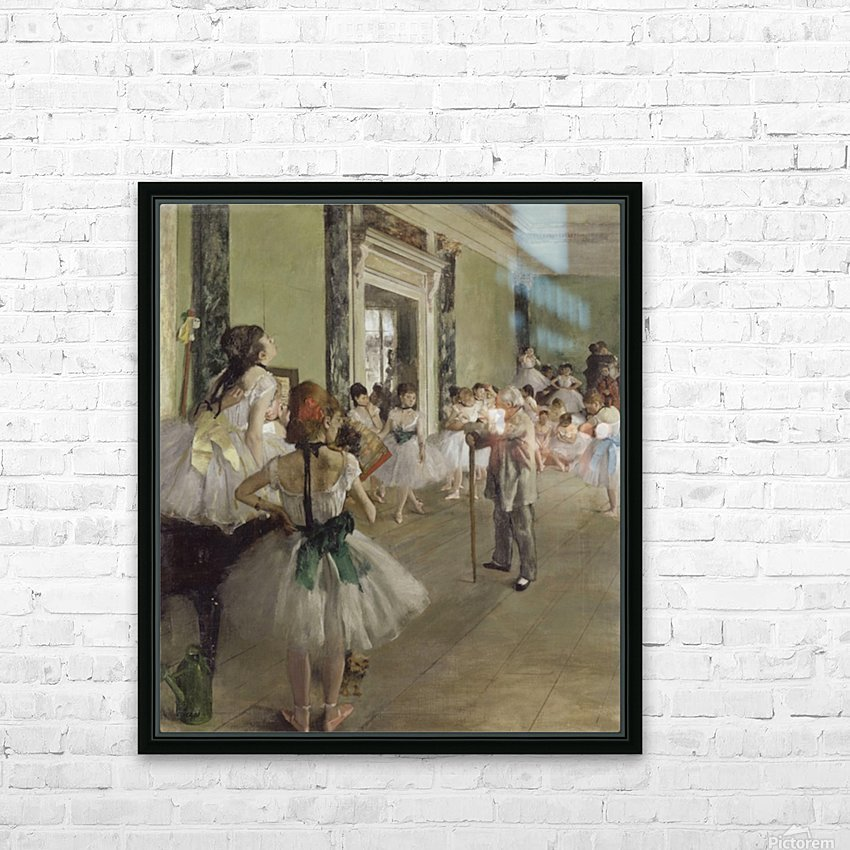 The Ballet Class by Degas HD Sublimation Metal print with Decorating Float Frame (BOX)
