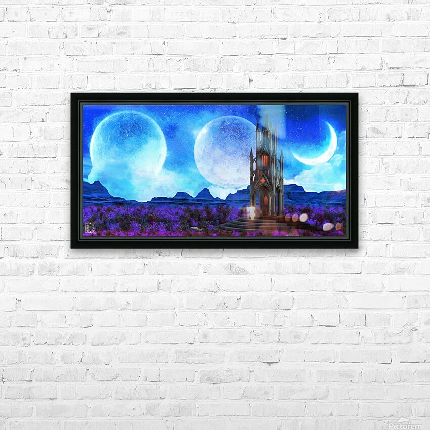 Lonely Spire HD Sublimation Metal print with Decorating Float Frame (BOX)