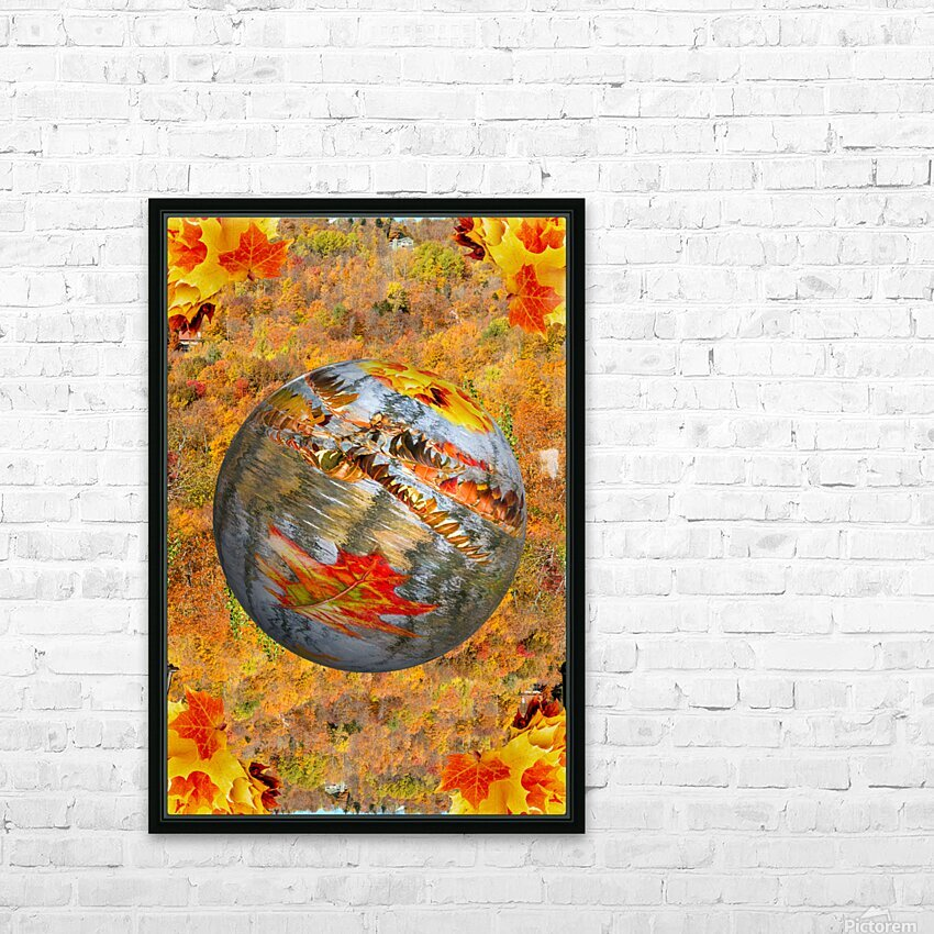 Abstract - Autumn II HD Sublimation Metal print with Decorating Float Frame (BOX)