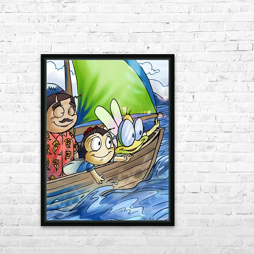 Sail Away with Us HD Sublimation Metal print with Decorating Float Frame (BOX)