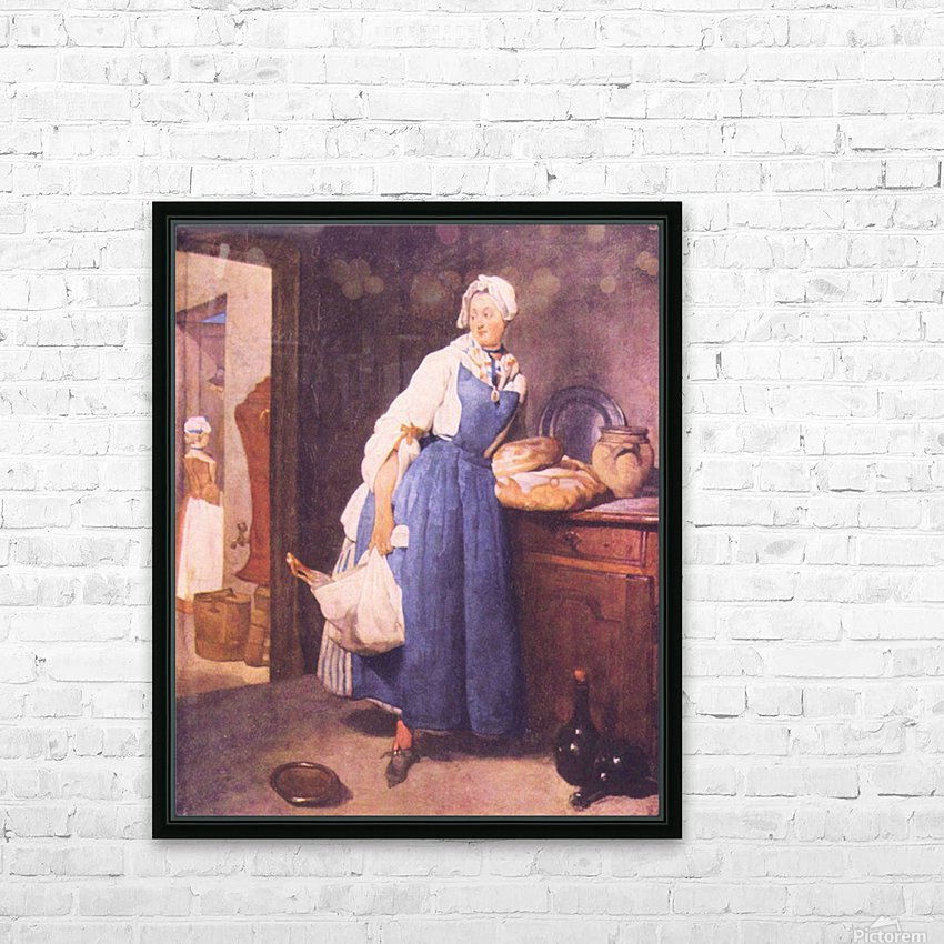 The bread by Jean Chardin HD Sublimation Metal print with Decorating Float Frame (BOX)