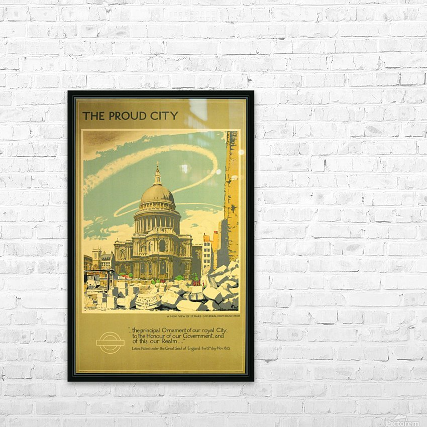 The Proud City HD Sublimation Metal print with Decorating Float Frame (BOX)