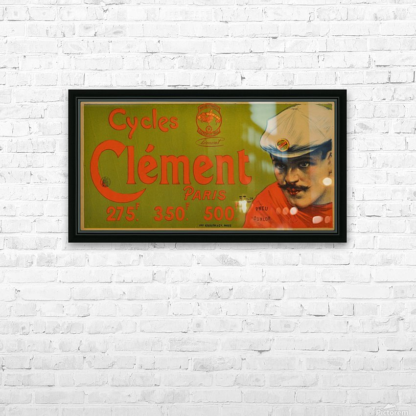 Clement Paris Cycles HD Sublimation Metal print with Decorating Float Frame (BOX)