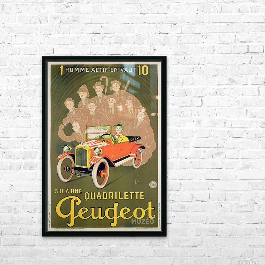 Quadrilette Peugeot HD Sublimation Metal print with Decorating Float Frame (BOX)