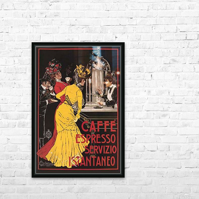 Caffe Espresso HD Sublimation Metal print with Decorating Float Frame (BOX)