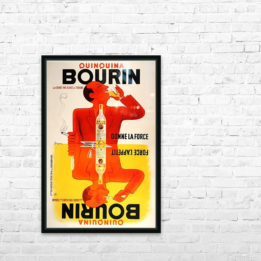 Bourin HD Sublimation Metal print with Decorating Float Frame (BOX)