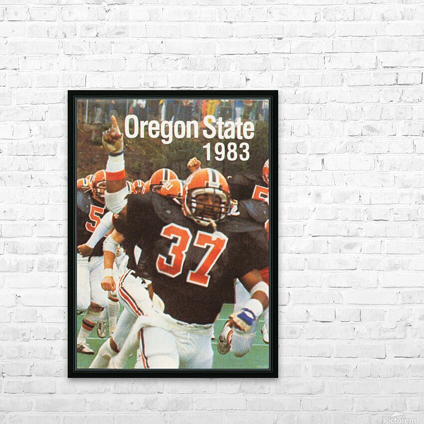 1983 Oregon State Beavers Football Poster HD Sublimation Metal print with Decorating Float Frame (BOX)