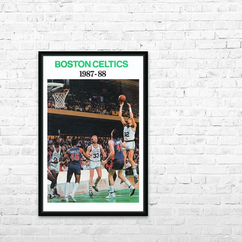 1987 Boston Celtics Larry Bird Poster HD Sublimation Metal print with Decorating Float Frame (BOX)