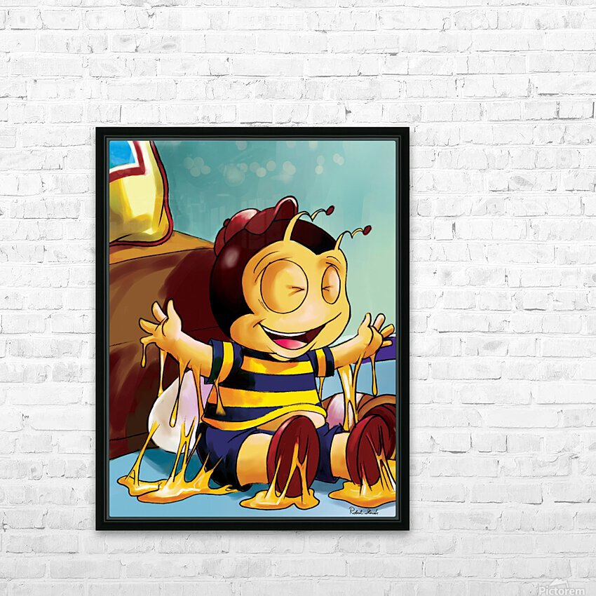 Sticky Mess - Too Much Honey Buster Bee HD Sublimation Metal print with Decorating Float Frame (BOX)