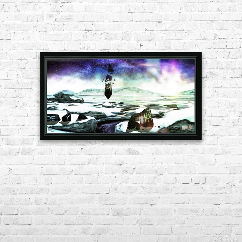 Monumentum Mundi or Monument World HD Sublimation Metal print with Decorating Float Frame (BOX)