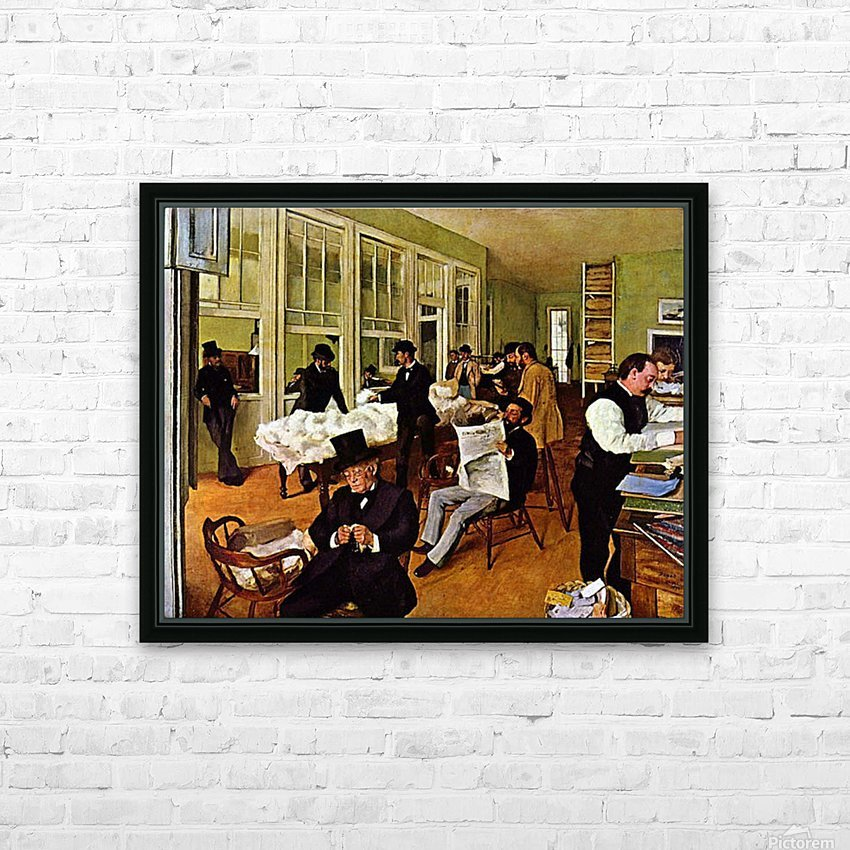 The cotton exchange by Degas HD Sublimation Metal print with Decorating Float Frame (BOX)