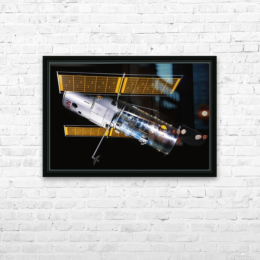 NASA Hubble Space Telescope Side - Outer Space Image HD Sublimation Metal print with Decorating Float Frame (BOX)