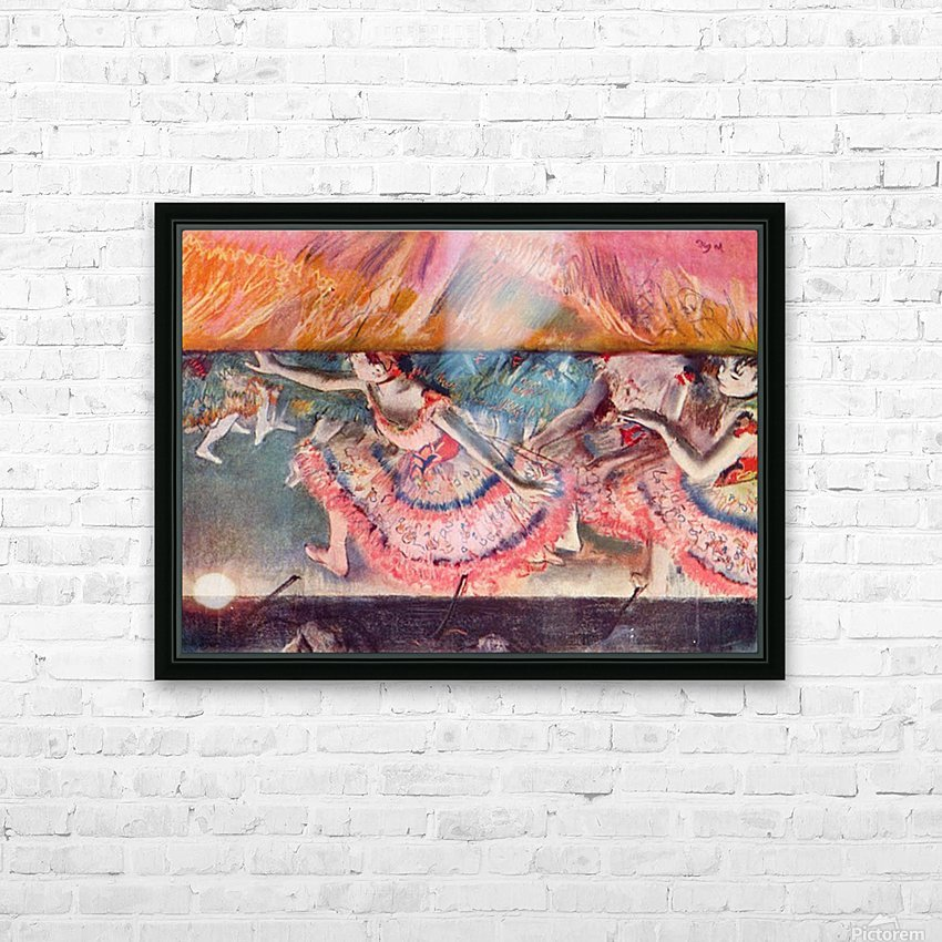 The curtain falls by Degas HD Sublimation Metal print with Decorating Float Frame (BOX)