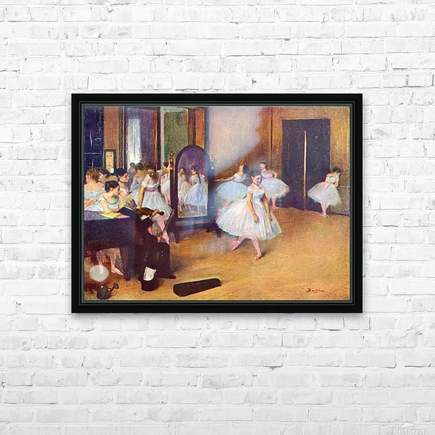 The dance hall by Degas HD Sublimation Metal print with Decorating Float Frame (BOX)