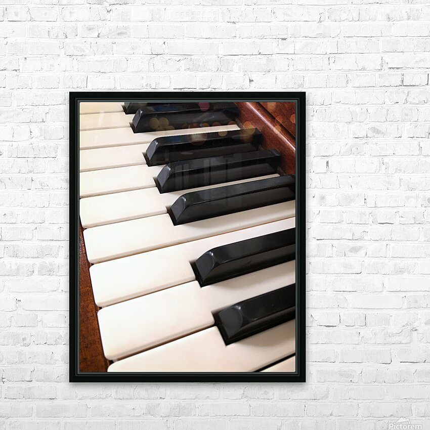 Piano Keys One Octave Plus HD Sublimation Metal print with Decorating Float Frame (BOX)