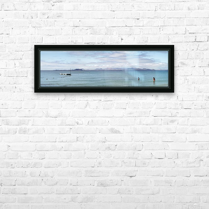 Panorama of Pontoon and Fuerteventura HD Sublimation Metal print with Decorating Float Frame (BOX)