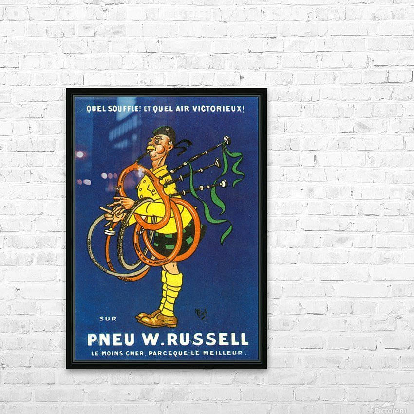 Pneu W.Russell HD Sublimation Metal print with Decorating Float Frame (BOX)