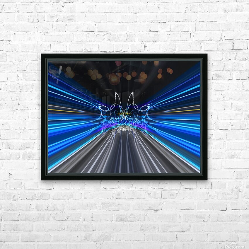 WARP SPEED HD Sublimation Metal print with Decorating Float Frame (BOX)