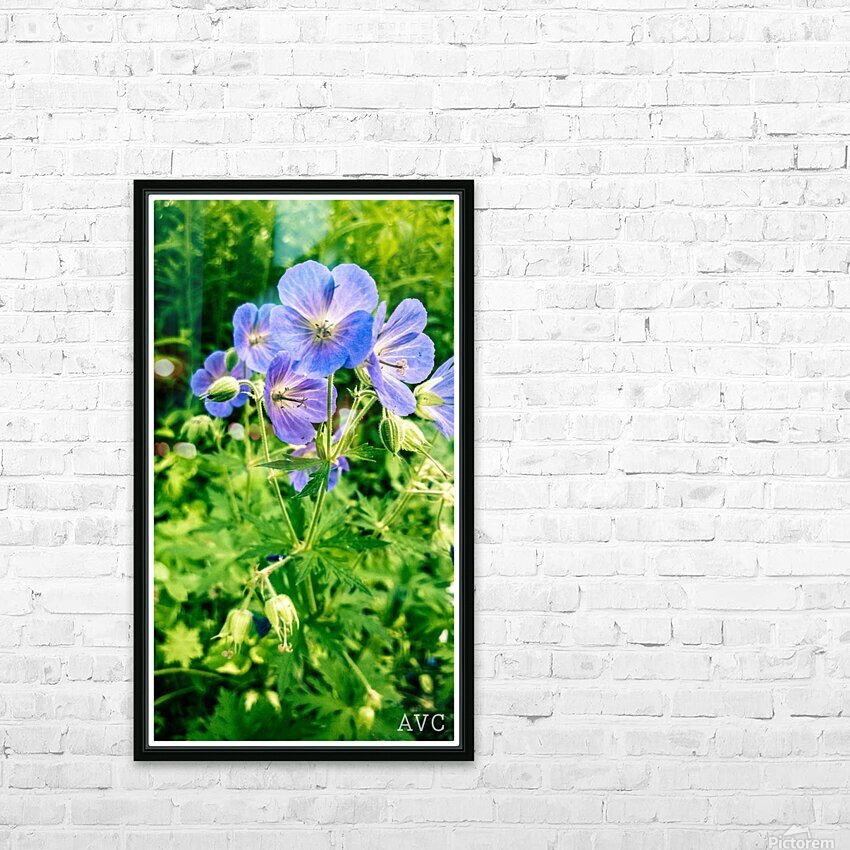 Periwinkle HD Sublimation Metal print with Decorating Float Frame (BOX)