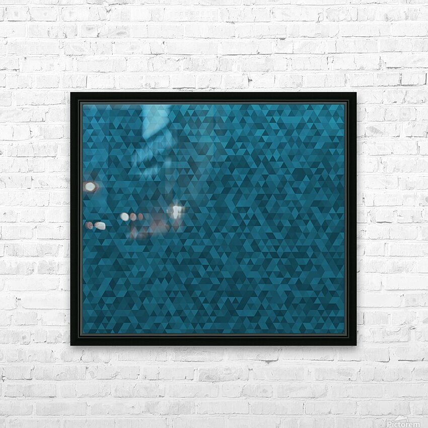 Dark Blue Glitter Pattern HD Sublimation Metal print with Decorating Float Frame (BOX)