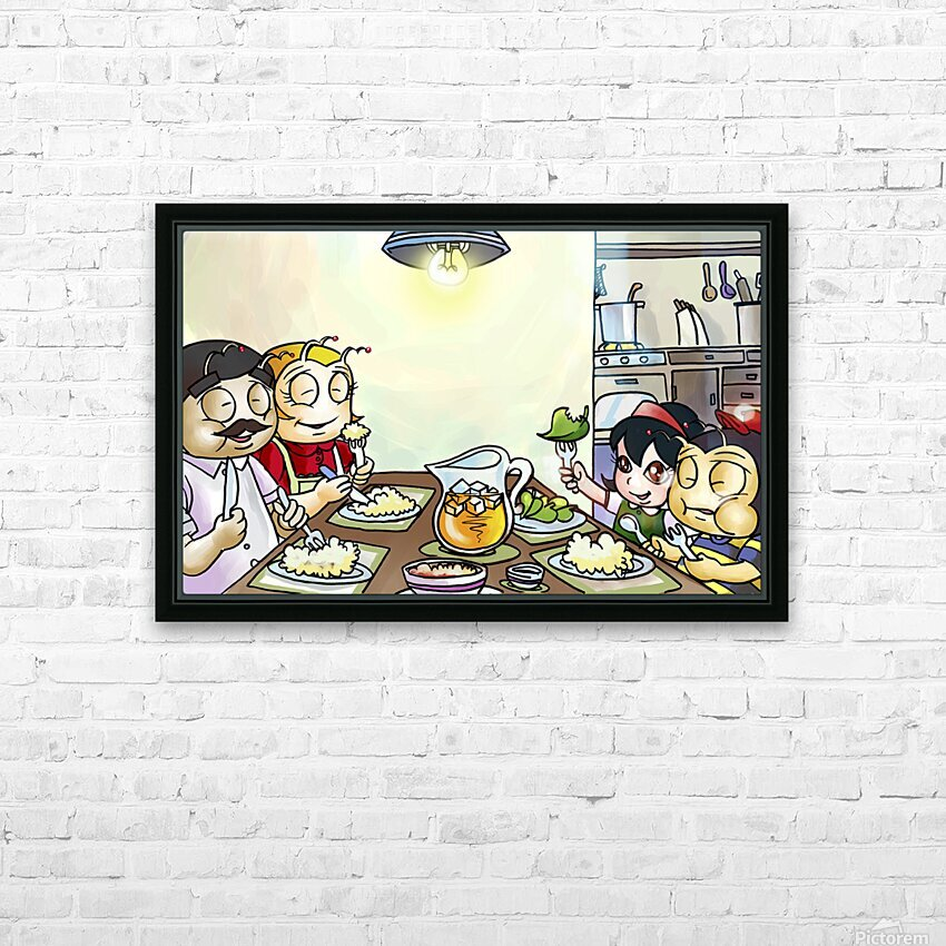 Dinner Time at the Bee House with the Family HD Sublimation Metal print with Decorating Float Frame (BOX)